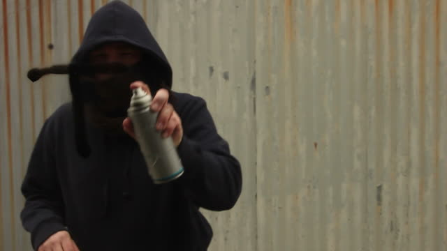 Spraying 'Truth' in Graffiti on glass video