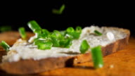 HD SLOW MOTION: Spread With Spring Onion video