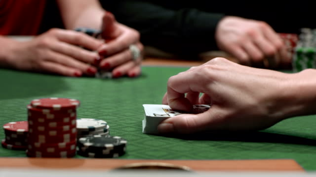 HD: Spreading Cards On A Poker Table video