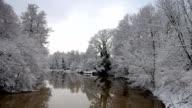 Spremberg river Spree in Winter video