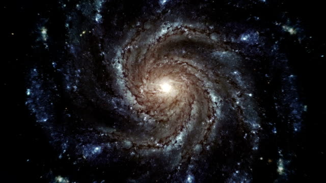 Sprial Galaxy - Accurate rotation over time video