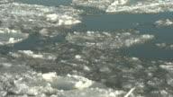 Spring Thaw, River Ice Drifting. 4K UHD video