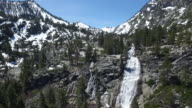 Spring time water fall video