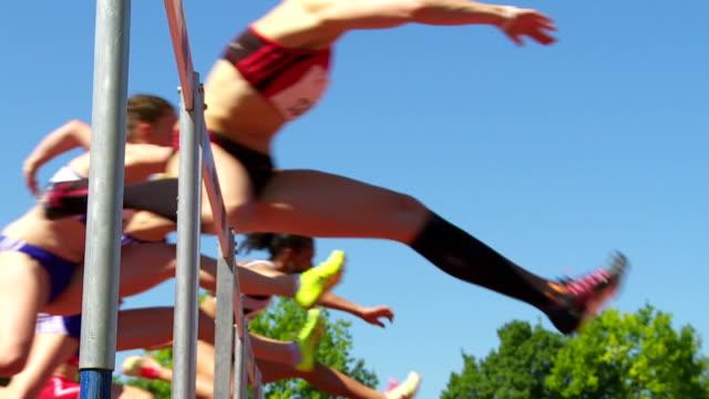 SLO MO Sprint Hurdle Race For Women video