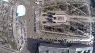 Square of Fallen Soldiers in Volgograd, aerial view video