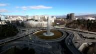 Square of Heroes, Tbilisi - Aerial Time lapse, Full HD video