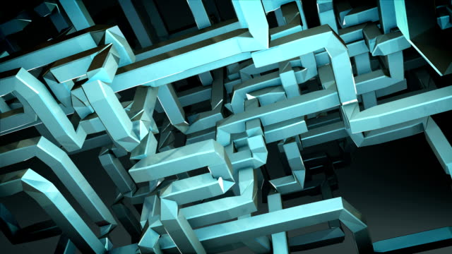 3D square pipe makes web background 1(included alpha) video
