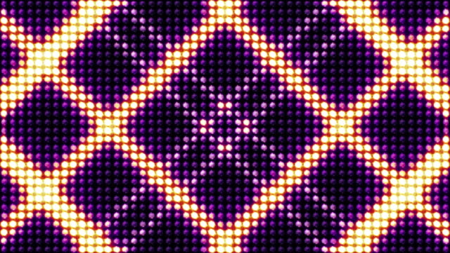 Squares Bulb Lights Background, Loop, 4k video
