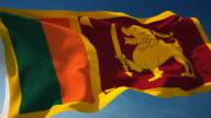 4K Sri Lanka Flag - Loopable video