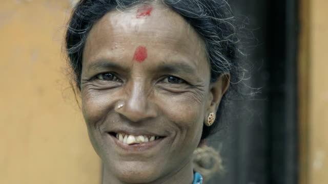 Sri Lankan woman portrait video