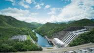 Srinagarind Dam, Hydroelectric Power Station at Kanchanaburi Province, Thailand video