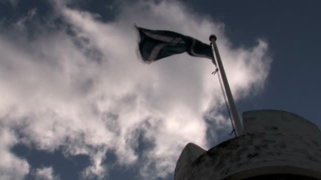St Andrews Flag With Blue Sky Zoom In video