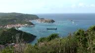 St Barth, amazing panoramic view video