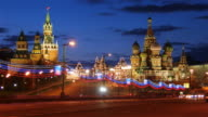 St Basil cathedral and Moscow Kremlin video