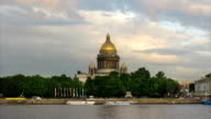St. Isaac's Cathedral and Neva river, St Petersburg, Russia video