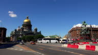 St. isaac's cathedral in St. Petersburg. 4K. video