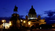 ZOOM: St. Isaac's Cathedral in White Nights, St Petersburg video