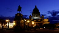 St. Isaac's Cathedral View in White Nights, St Petersburg video