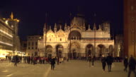 St mark's square in Venice, panning video