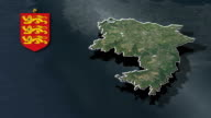 St. Martin with Coat Of Arms Animation Map video