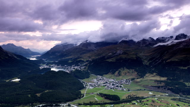 St Moritz Time Lapse in Switzerland video