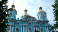 St. Nicholas Cathedral. St. Petersburg. Russia video