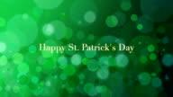 St. Patricks Animated background video