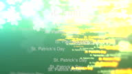 St. Patrick's animated text backdrop video
