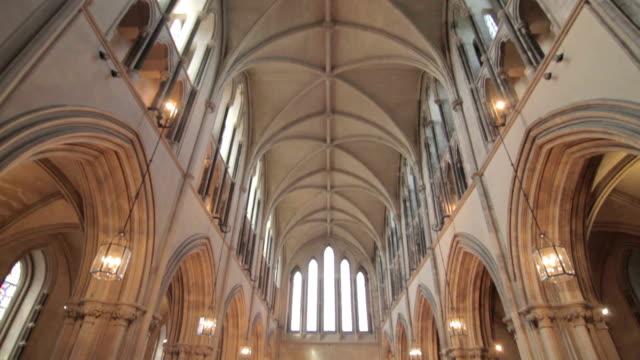 St Patrick's Cathedral Interior - Dublin, Ireland - Pan video