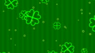 St. Patrick's clover animated background video