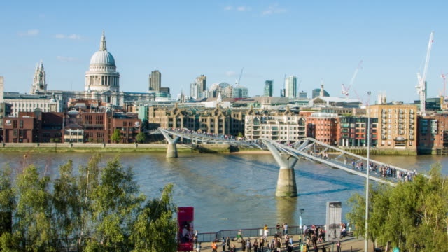 St Paul's and Millennium Bridge video