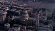 St Paul's Cathedral  - Aerial View - England, Greater London, City of London, United Kingdom video