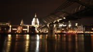 St Paul's Cathedral and the Thames timelapse HD video