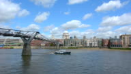 St Pauls Cathedral the and Millennium Bridge,London UK video