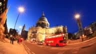 St Pauls timelapse video. London 1080 HD video
