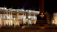 St. Petersburg, The State Hermitage Museum at night video