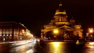 St. Petersburg time-lapse photography, St. Isaac's Cathedral video