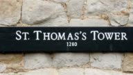 St. Thomas tower built in 1280 video