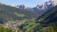 St Ulrich in Val Gardena (South Tyrol) PAN video