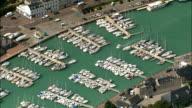 St Valery-En-Caux  - Aerial View - Haute-Normandie, Seine-Maritime, France video