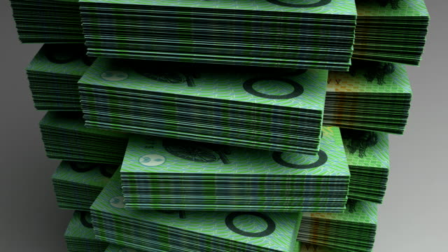 Stack of Australian Dollar video