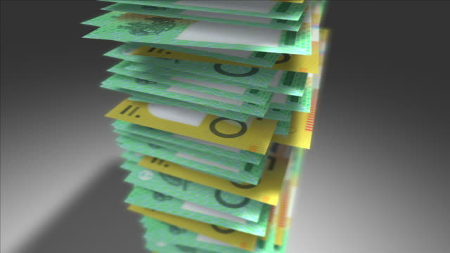 Stack of Australian Dollars. video