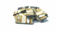 Stack of Canadian dollar bills. video