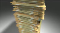 Stack of Canadian Dollars video