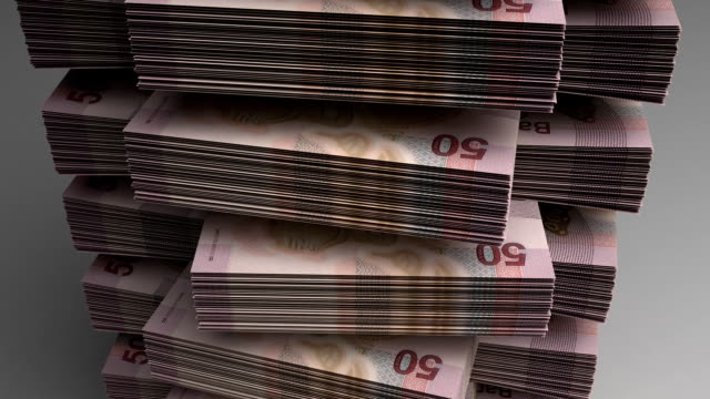 Stack of Mexican Pesos video