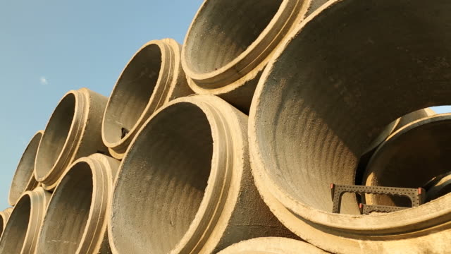 Stacked Concrete Sewer Pipe video