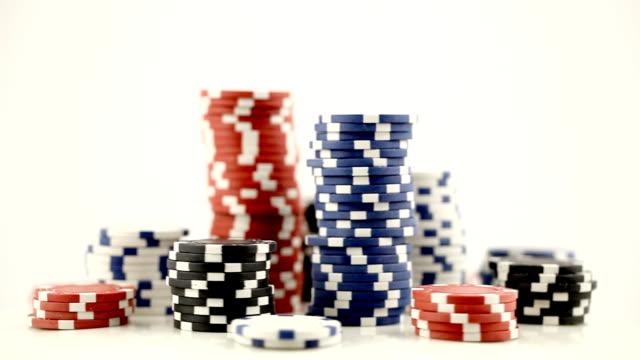 Stacks of Poker Chips video