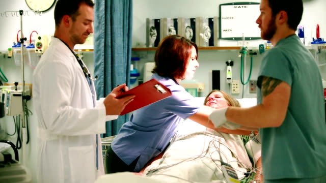 ER Staff Sets Up EKG 2 video