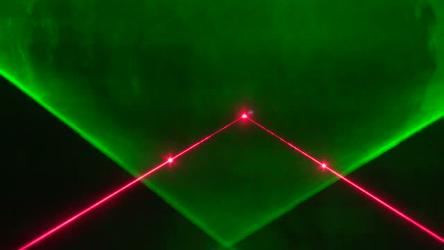 Stage colored laser lights video