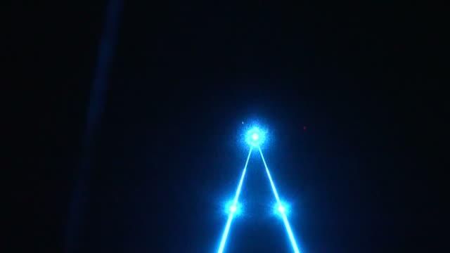 Stage colored laser lights video